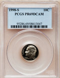 Proof Roosevelt Dimes: , 1998-S 10C Clad PR69 Deep Cameo PCGS. PCGS Population (1982/122).NGC Census: (135/150). Numismedia Wsl. Price for problem...