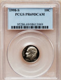 Proof Roosevelt Dimes: , 1998-S 10C Clad PR69 Deep Cameo PCGS. PCGS Population (1978/120). NGC Census: (135/149). Numismedia Wsl. Price for proble...