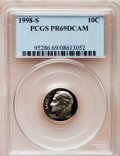 Proof Roosevelt Dimes: , 1998-S 10C Clad PR69 Deep Cameo PCGS. PCGS Population (2046/138).NGC Census: (138/153). Numismedia Wsl. Price for problem...