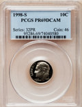 Proof Roosevelt Dimes: , 1998-S 10C Clad PR69 Deep Cameo PCGS. PCGS Population (2047/138).NGC Census: (139/162). Numismedia Wsl. Price for problem...