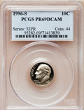 Proof Roosevelt Dimes: , 1996-S 10C Clad PR69 Deep Cameo PCGS. PCGS Population (2013/116).Numismedia Wsl. Price for problem fre...
