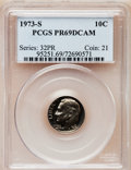 Proof Roosevelt Dimes: , 1973-S 10C PR69 Deep Cameo PCGS. PCGS Population (2010/8). NGCCensus: (18/0). Numismedia Wsl. Price for problem free NGC/...