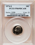 Proof Roosevelt Dimes: , 1974-S 10C PR69 Deep Cameo PCGS. PCGS Population (3328/17). NGCCensus: (49/0). Numismedia Wsl. Price for problem free NGC...