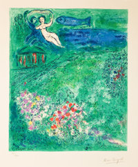 THE PROPERTY OF AN ARKANSAS ESTATE  MARC CHAGALL (Belorussian, 1887-1985) Le Verger Color Lit