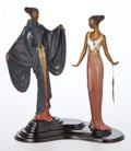 Sculpture, PATINATED BRONZE AFTER ERTÉ (FRENCH, 1892-1990) : DREAMBIRDS. 20th century. Marks: Stamped on base 18/500 ©1988 S...