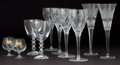 Decorative Arts, Continental:Other , TEN PIECES OF ASSORTED GLASS STEMWARE . Engraved: BACCARAT,WATERFORD . 10-1/4 inches high (26.0 cm) (Waterford flutes)...(Total: 10 Items)