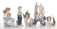 GROUP OF FIVE LLADRO PORCELAIN FIGURES IN ORIGINAL BOXES Spain, late 20th century 9-1/2 inches high (24.1 cm)