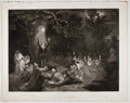 Antiques:Posters & Prints, Engraved Print from Boydell's Shakespeare Entitled, Merry Wives of Windsor. Cheapside: J. & J. Boydell, 1795. Ge...