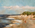 Fine Art - Painting, American:Contemporary   (1950 to present)  , THE PROPERTY OF AN ARKANSAS ESTATE. MARY ANNA GOETZ (American, b. 1946). Beach Scene. Oil on canvas . 20 x 24 inches (...