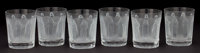 SET OF SIX LALIQUE FROSTED CRYSTAL BEVERAGE GLASSES: FEMMES ANTIQUES France, post 1945 E