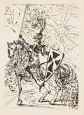 Prints, THE PROPERTY OF AN ARKANSAS ESTATE. SALVADOR DALÍ (Spanish, 1904-1989). El Cid. Etching. 7-1/2 x 5-1/2 inches (19.1 x ...