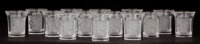FOURTEEN LALIQUE CORDIALS GLASSES: LES ENFANTS Paris, France, post 1945 1-3/4 inches hi