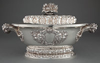 SPANISH SILVER COVERED OVAL TUREEN 1888-1934 Marks: QUINTANA, STERLING, (star), 916-1000