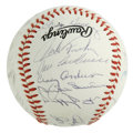 Autographs:Baseballs, New York Mets Old Timers Day Multi-Signed Baseball. OfficialNational League orb that we see here plays host to a fantastic...