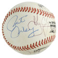Autographs:Baseballs, 1993-94 New York Knicks Team Signed Baseball. Pat Riley's New YorkKnicks provide a total of thirteen signatures to the sur...