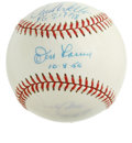Autographs:Baseballs, Perfect Game Pitchers Baseball Signed by Larsen, Wells, and Cone.Three men who have achieved the ridiculous feat of pitchin...