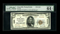 National Bank Notes:Pennsylvania, Claysville, PA - $5 1929 Ty. 2 The NB of Claysville Ch. # 4255. ...(Total: 3 notes)