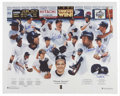"Autographs:Letters, New York Yankees 1998 Lithograph Signed by 5. Full color lithographcommemorating the New York Yankees 1998 ""Dream Season""...."