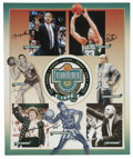 Basketball Collectibles:Others, Lot of Two Signed Basketball Hall of Fame Posters. Basketball Hall of Fame Enshrinement Posters. One is from the 1998 Enshr...