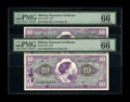 Military Payment Certificates:Series 651, Series 651 $10 Two Consecutive Examples PMG Gem Uncirculated 66EPQ. Broad margins and nice centering are among the merits o...(Total: 2 notes)