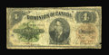Canadian Currency: , DC-10 $4 1882. The first Dominion $4 issue. This well used piece displays plenty of circulation as well as a few nicks and s...