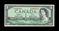 Canadian Currency: , BC-37bA $1 1954. A nice example bearing serial number A/Y0000001, the first of three 1954 serial number 1 examples offered h...
