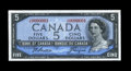 Canadian Currency: , BC-39a-i $5 1954. This is a third serial number 1 example. AboutUncirculated....