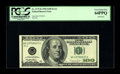 Error Notes:Blank Reverse (100%), Fr. 2175-K $100 1996 Federal Reserve Note. PCGS Very Choice New 64PPQ.. Here is a blank back C-note with the ever so slighte...