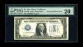 Error Notes:Inverted Third Printings, Fr. 1606 $1 1934 Silver Certificate. PMG Very Fine 20.. Thisinverted third printing error is, according to our consignor, t...