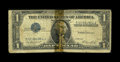 Error Notes:Inverted Third Printings, Fr. 1614 $1 1935E Silver Certificate. Good.. The third printing isupside down on this $1 Silver that has been torn in half ...