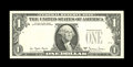 Error Notes:Inverted Third Printings, Fr. 1910-E $1 1977A Federal Reserve Note. Gem Crisp Uncirculated..Here is another specimen of the Natick test paper note wh...
