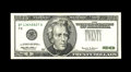 Error Notes:Inverted Third Printings, Fr. 2086-F $20 1999 Federal Reserve Note. About Uncirculated.. TheTreasury Seal and serial numbers will have wound up on th...