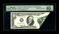 Error Notes:Foldovers, Fr. 2022-A $10 1974 Federal Reserve Note. PMG Gem Uncirculated 65EPQ.. This Boston note would pair well with the New York n...