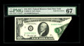 Error Notes:Foldovers, Fr. 2022-B $10 1974 Federal Reserve Note. PMG Superb Gem Unc 67..This is a very neat foldover error in high grade. Plenty o...
