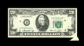 Error Notes:Foldovers, Fr. 2071-D* $20 1974 Federal Reserve Note. Choice AboutUncirculated.. Wide margins surround this replacement with a neatpr...