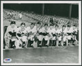 Baseball Collectibles:Photos, New York Yankees Legends Multi Signed Photograph....