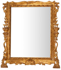 GILT WOOD AND GESSO FRAMED MIRROR 20th century 37 x 32 inches (94.0 x 81.3 cm)