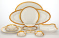 Ceramics & Porcelain, EXTENSIVE ROSENTHAL PORCELAIN DINNERWARE SERVICE WITH DECORATED GILT RIM . Germany, 20th century . Marks: Rosenthal, SELB ... (Total: 111 Items)