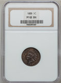 Proof Indian Cents: , 1889 1C PR63 Brown NGC. NGC Census: (34/218). PCGS Population(20/84). Mintage: 3,336. Numismedia Wsl. Price for problem fr...