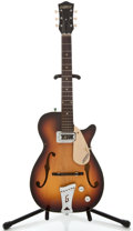 Musical Instruments:Electric Guitars, 1969 Gretsch 3/4 Clipper Sunburst Semi-Hollow Body Electric Guitar,#29304....