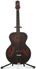 Musical Instruments:Acoustic Guitars, 1940's Gretsch Sunburst Archtop Electric Guitar, #3693....