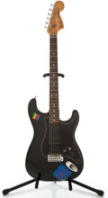 Musical Instruments:Electric Guitars, 1979 Fender Stratocaster Black Solid Body Electric Guitar,#S913560....
