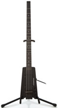Musical Instruments:Bass Guitars, 1980's Steinberger XL-2 Black Solid Body Electric Guitar, #6805....