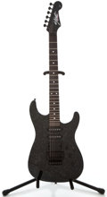 Musical Instruments:Electric Guitars, 1989 Fender Strat Black Crinkle Solid Body Electric Guitar,#E904780....