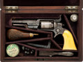 Handguns, Cased Gustav Young Factory Engraved Colt Second Model 1855 Root Side-Hammer Pocket Revolver Belonging to Amos Stellenwerf....
