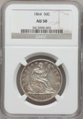 Seated Half Dollars: , 1864 50C AU50 NGC. NGC Census: (2/71). PCGS Population (2/67).Mintage: 379,100. Numismedia Wsl. Price for problem free NGC...