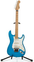 Musical Instruments:Electric Guitars, 1989 Fender Stratocaster Electric Blue Solid Body Electric Guitar,#E909457....