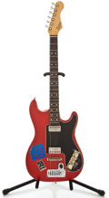 Musical Instruments:Electric Guitars, 1960's Hofner Project Model Red Solid Body Electric Guitar....