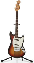 Musical Instruments:Electric Guitars, 1975 Fender Mustang Sunburst Solid Body Electric Guitar,#627259....