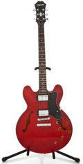 Musical Instruments:Electric Guitars, Epiphone DOT Cherry Semi-Hollow Body Electric Guitar,#EE06020436....